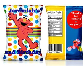 Elmo birthday party favor---Elmo chip bags----DIGITAL FILE ONLY!!!!