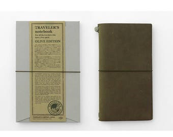 Travelers notebook OLIVE EDITION (2017-limited color)
