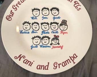 Grandparents plates