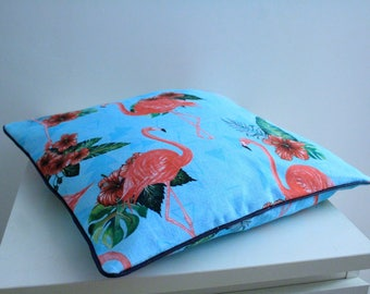 Flamingos 40 * 40 patterns piped Cushion cover