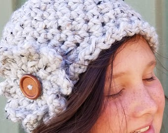 Now 20% OFF!!!   Now 20 Percent Off!!!   Classic Flower Beanie