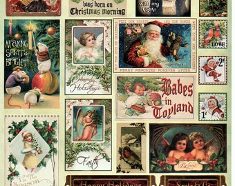 Christmas Time Heartwarming Vintage Cuts Crafty Secrets Scrapbook Embellishments Card Making