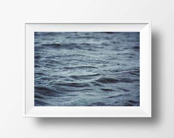 Sea Print, Ocean Print, Waves Poster, Bathroom Wall Art, Coastal Art Print, Modern Minimal Scandinavian Prints, Ocean Water Printable, Wave