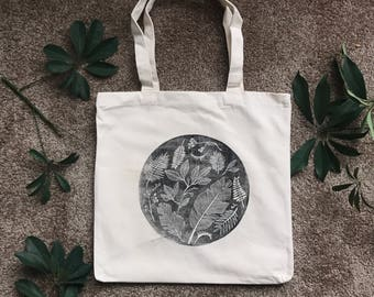 Linocut Totebag // Hurricane Maria Community Relief and Recovery Fund Puerto Rico Fundraiser