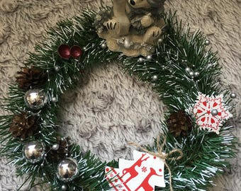 """10"""" Christmas Table Wreath"""