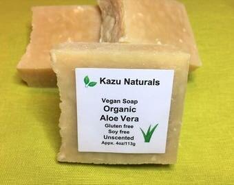 Vegan Organic Aloe Soap