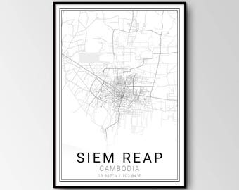 Siem Reap city map