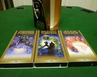 STAR WARS Trilogy VCR Gold Box Set - 3 Movies