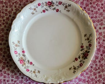 Tea Rose China - Vintage - Montgomery Ward Style House - Bread & Butter Plate - Made in Poland