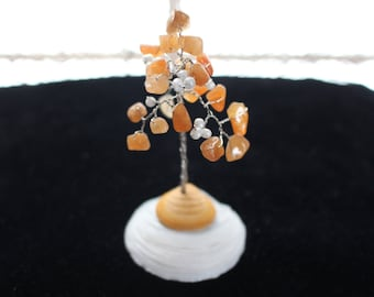 Wire Wrapped Gem Tree on Shells