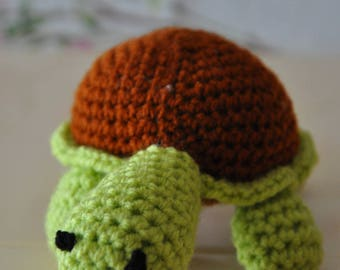 Little turtle crochet wool blanket