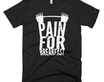 Pain for Breakfast Motivational Weight Lifting T-shirt