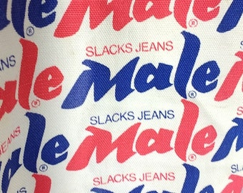 You're More of a Man in Male Slacks Jeans Red, White, and Blue Vintage Pants from the 70's 34x33