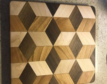 3D Cutting Board 9x9.5