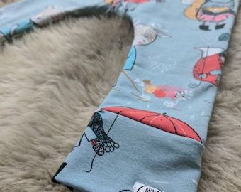 Warm Baby Leggings lined Winter leggings grey Forest animals baby Hipster toddler gender neutral Scandi cotton Unisex Hand Made in UK baby