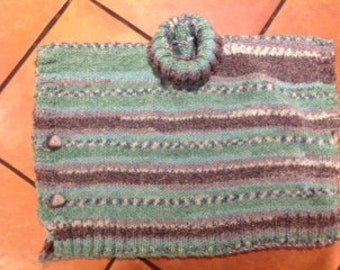 Girl's hand knitted Poncho Made to fit 22 inch chest