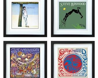 Steve Winwood - Framed Album Art - Set of 4 Images