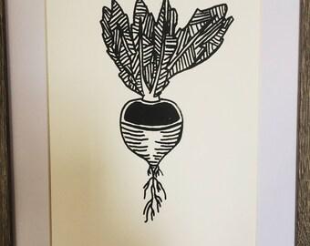 Rad Radish Print