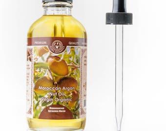 Organic Moroccan Argan Nut Oil - Cold Pressed Virgin 4 Fl Oz/120 Ml