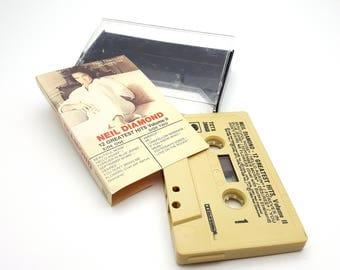 Neil Diamond 12 Greatest Hits Volume II Cassette Tape Vintage from 1982 CBS Records Retro Music Songs Artist Singer
