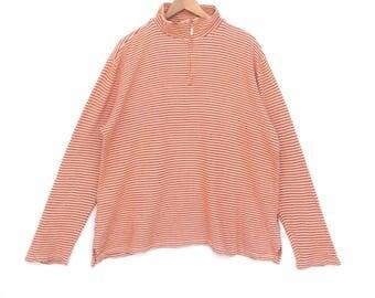 Vintage 90's Van Jac Stripe Multicolour Sweatshirt X Large Size Jumper Pullover Jacket Sweat Sweater Shirt