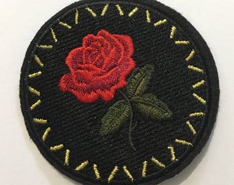 Red Rose - Iron on Appliqué Patch