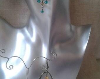 """Earrings """"engraved bronze beauty"""""""
