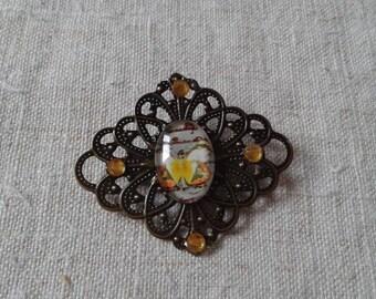 """""""pretty Yellow Butterfly"""" brooch"""
