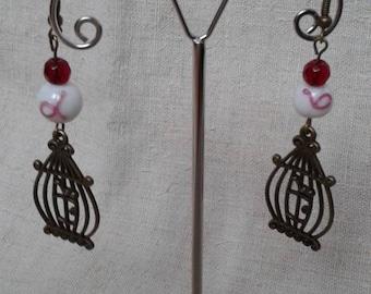 beautiful bird cage earrings