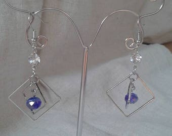 """Earrings """"Silver squares"""""""
