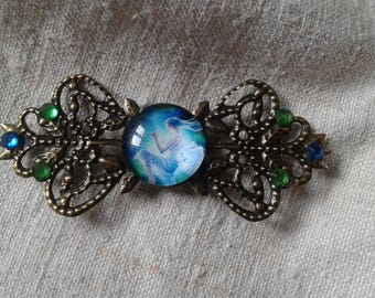 """brooch """"stamp and cabochon Angel"""""""