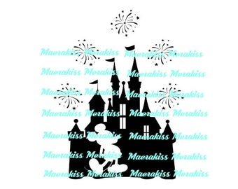 Disney mickey castle svg,png,pdf,eps files