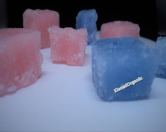Natural Homemade Cotton Candy Sugar Scrub Cubes