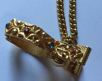 1950s Jewelled Glove or Scarf Clip, Practical and Pretty