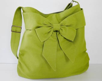 Virine pear green shoulder bag, cross body messenger everyday handbag,...