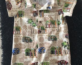 Toddler Boy Hawaiian Aloha Romper - Birthday Gift Onesie Infant Toddler Summer Tropical Shirt outfit - Custom