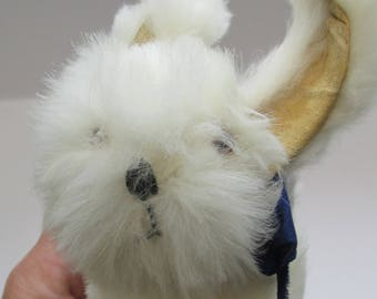 Vintage 1950s Fluffy White Rabbit Plush - Snowball Products Toy