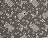 tissu patchwork enfant gris Little ones Animals Fabric Editions