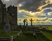 Rock of Cashel, Ireland Photography, Cemetery Photography, Landscape Photography, Travel Photography,  Irish Photography, Ireland landscape