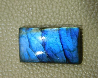 Very Rare ! Natural Blue Labradorite Cabochon Loose Gemstone 33.00 Cts  17x27 MM Approx Rectangle Shape Blue Power Smooth Polish