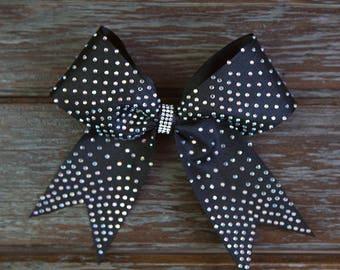 Hair Bows Cheerbow. Rhinestone. Mono Diamante.sparkly hair bows. Bright. Glitter