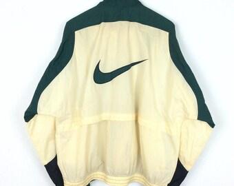 Vintage Nike Jacket Nike Windbreaker Jacket Big Logo Nike Swoosh Big Logo Spellout Rap Tees Hip Hop Swag