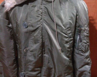 Vintage N3B Alpha Industries Extreme Cold Weather Made in USA