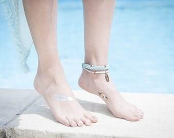 Turquoise Bohemian ankle bracelet