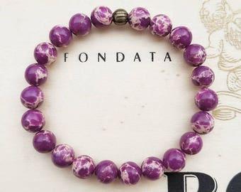 Purple Imperial Jasper Stretch Bracelet