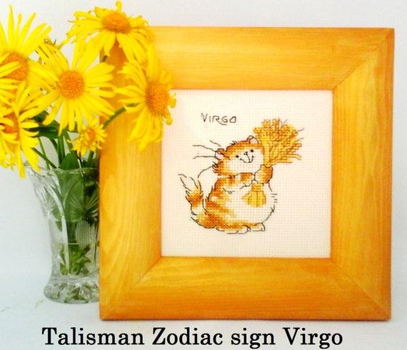 Zodiac Art Virgo Home Decor Cat Virgo Zodiac Picture Wall Kids