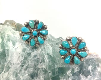 Zuni Petit Point Sterling Earrings with Screw Back
