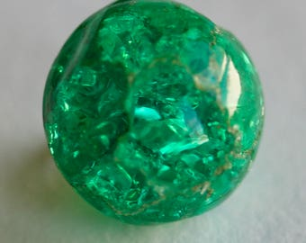 Green Cackle Glass Ball