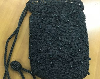 Crocheted Purse / Drawstring Pouch