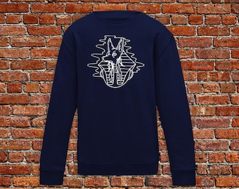 Anubis sweater, Egypt sweater, Anubis tattoo, tattoo sweater, traditional tattoo, gift for tattoo lovers, traditional egyptian, hipster gift